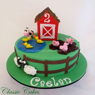 Farm Animal Birthday Cake Classic Cakes Sydney Kids Cake