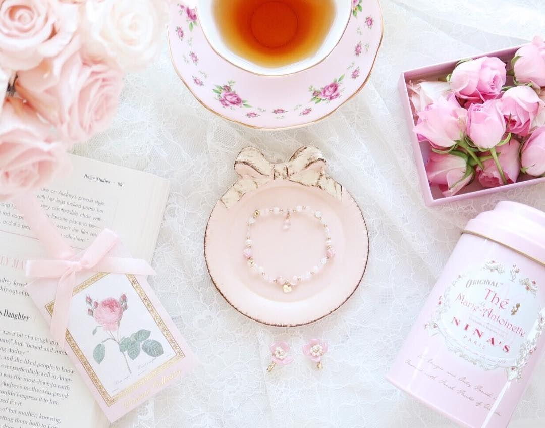 朝にゆっくり紅茶飲む ことが好き 時間ができたら アフタヌーンティーも いきたいな 今日も花粉症と戦いつつ 笑 Happyな1日にしよう Tea Party Soft Pink Tea