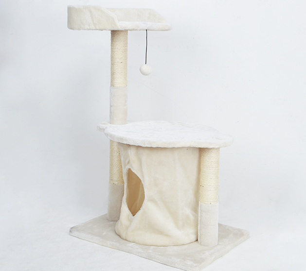 Ultimate Cat Climbing Scratcher Post Bed - Multifunction Sleeper Scratcher Climber for Cats - white / different size