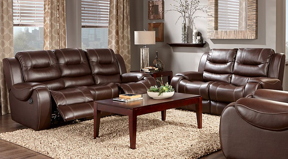baycliffe brown 3 pc living room from furniture the home living rh pinterest ca