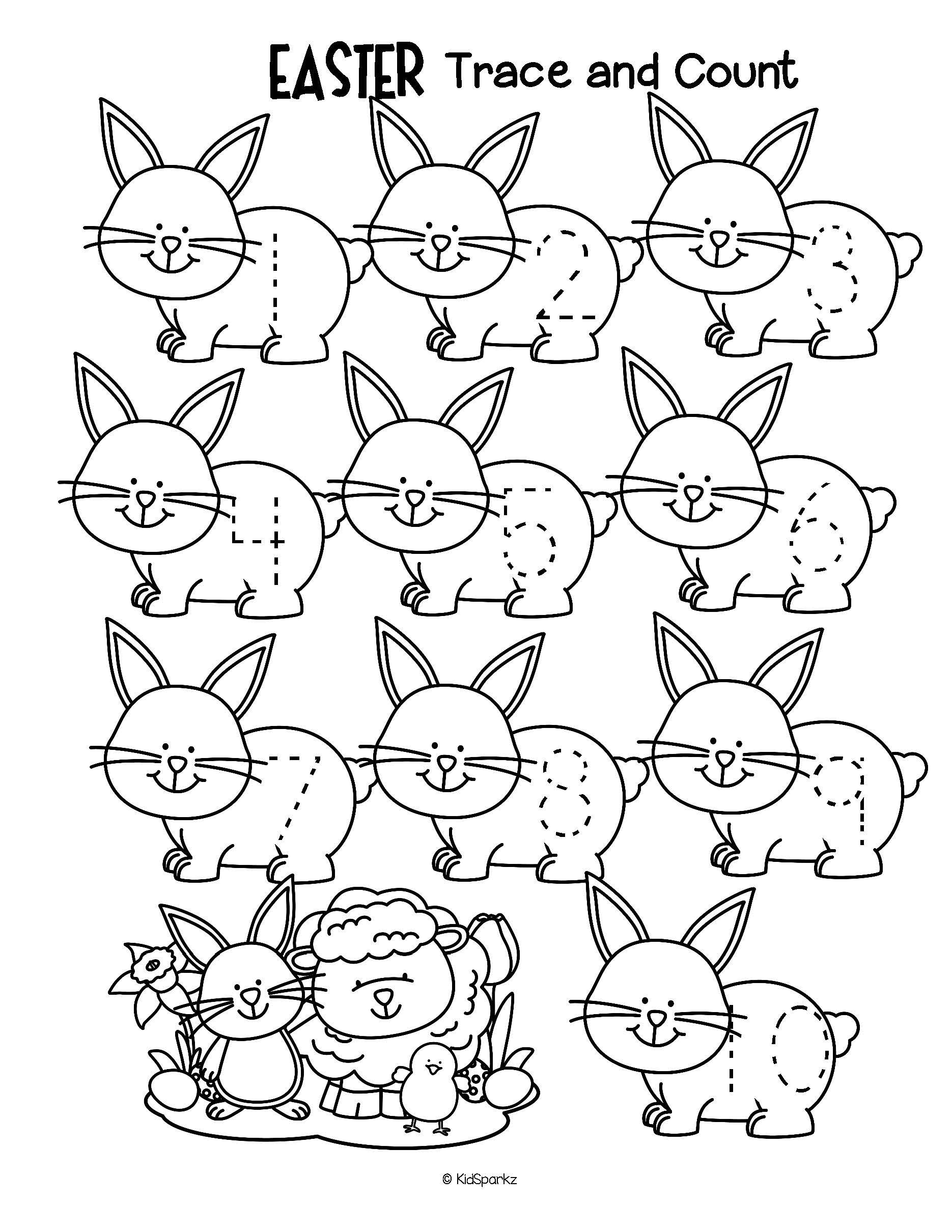 Free Three Easter Themed Tracing And Counting Pages For Early Learners Count The Sets Recognize And Tra Easter Preschool Easter Math Preschool Free Preschool [ 2420 x 1870 Pixel ]