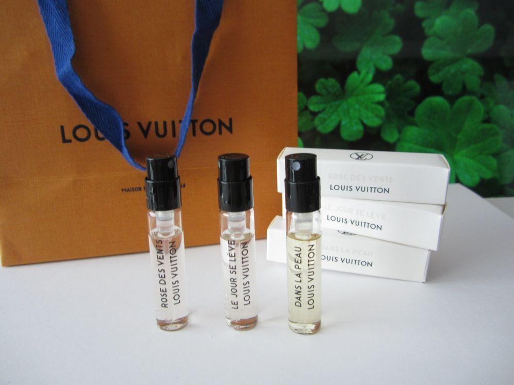 ca42b3e5f0f8 3 Louis Vuitton ROSE DES VENTS LE JOUR SE LEVE DANS LA PEAU EDP Perfume 3x  Vials  LouisVuitton