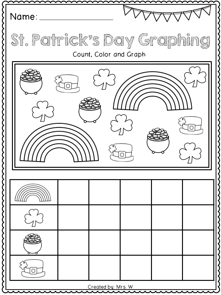 FREE St Patricks Day Literacy and Math Printables Kindergarten – Free Printable St Patrick Day Worksheets