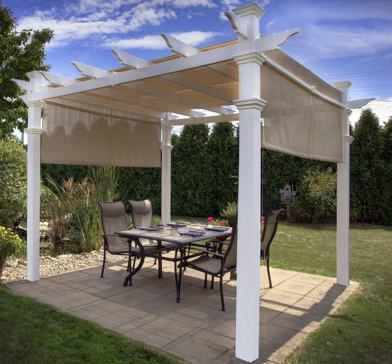 30 Gorgeous Pergola Canopy Ideas Pictures Outdoor Pergola Vinyl Pergola Pergola Patio