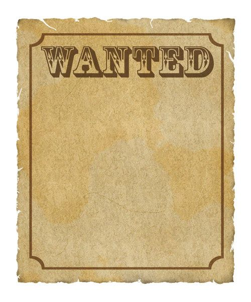 antique looking paper wanted poster   Wanted Poster: Grungy ...