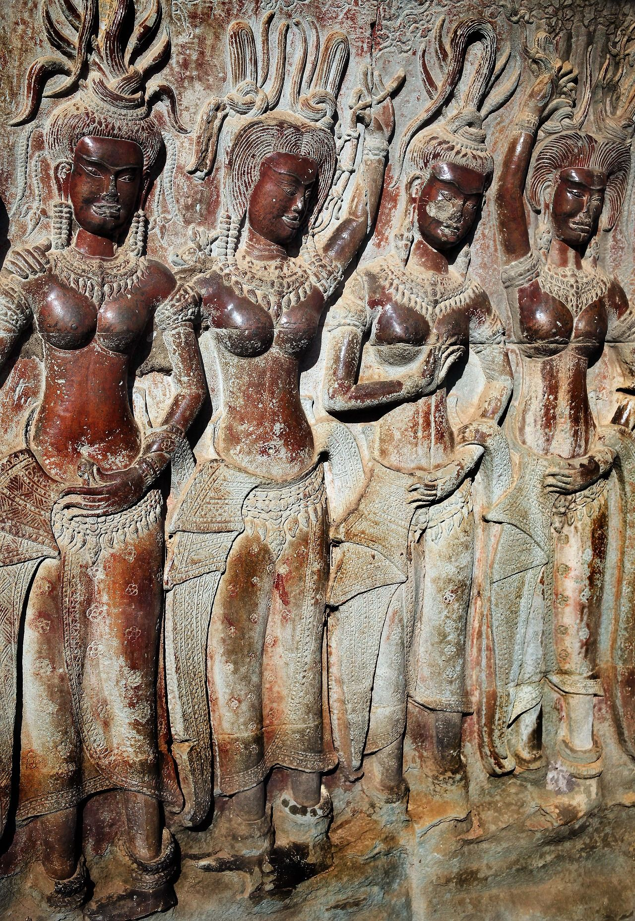Kerrytravel ancient bas relief apsara carvings angkor