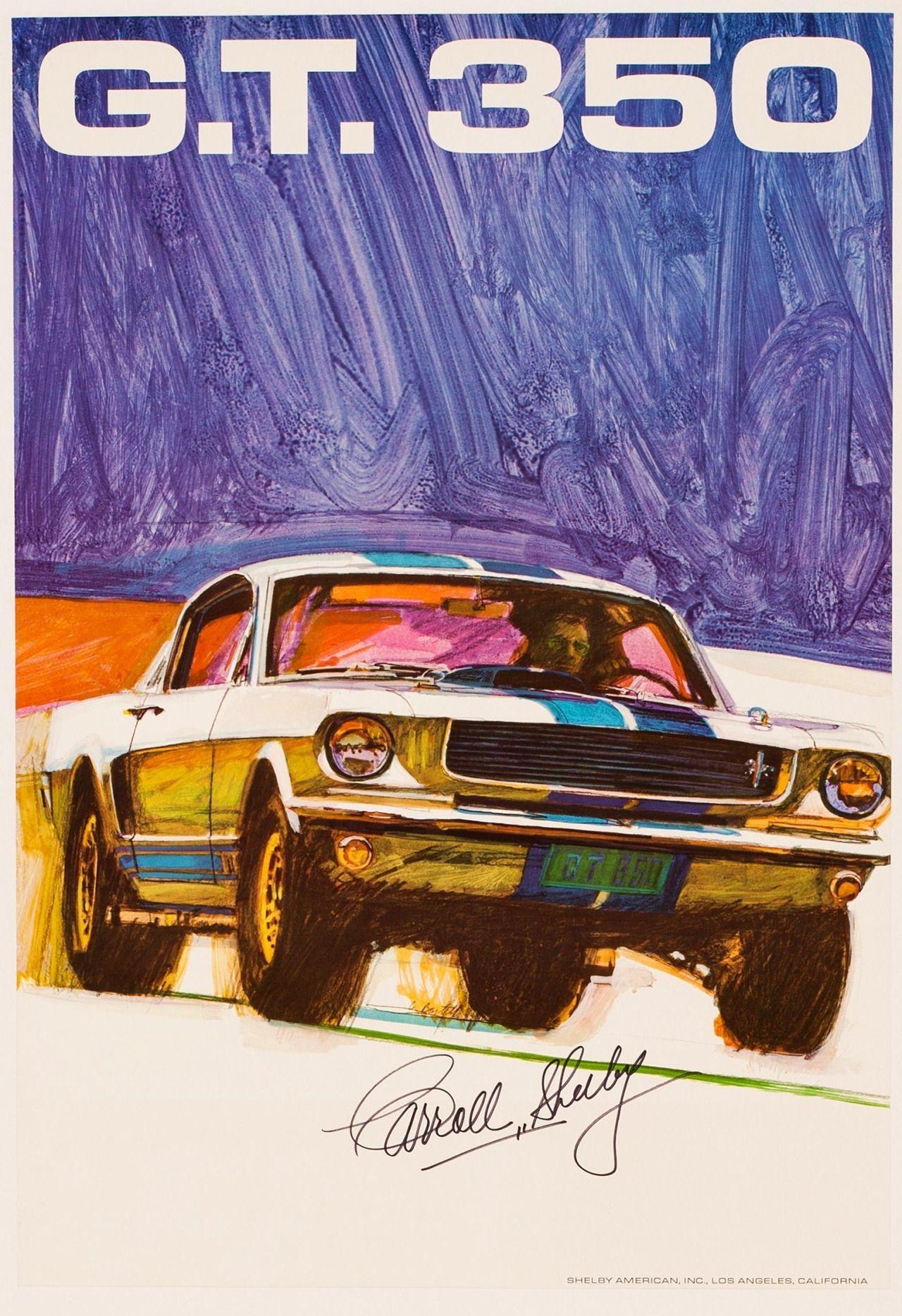 Affiche Shelby GT 350 Signée par Carroll Shelby c.1968 - Heritage ...
