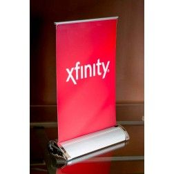 this 8 retractable banner stand is perfect for table tops won t rh pinterest ch