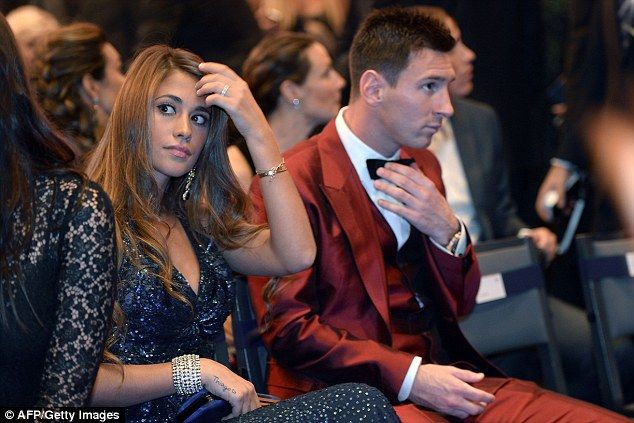 Second best: Messi (right) and Ronaldo did not even put the other in their respective top ...