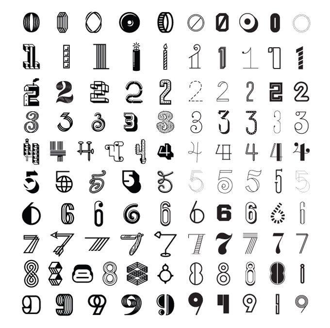 afbeeldingsresultaat voor cijfers handlettering  handlettering