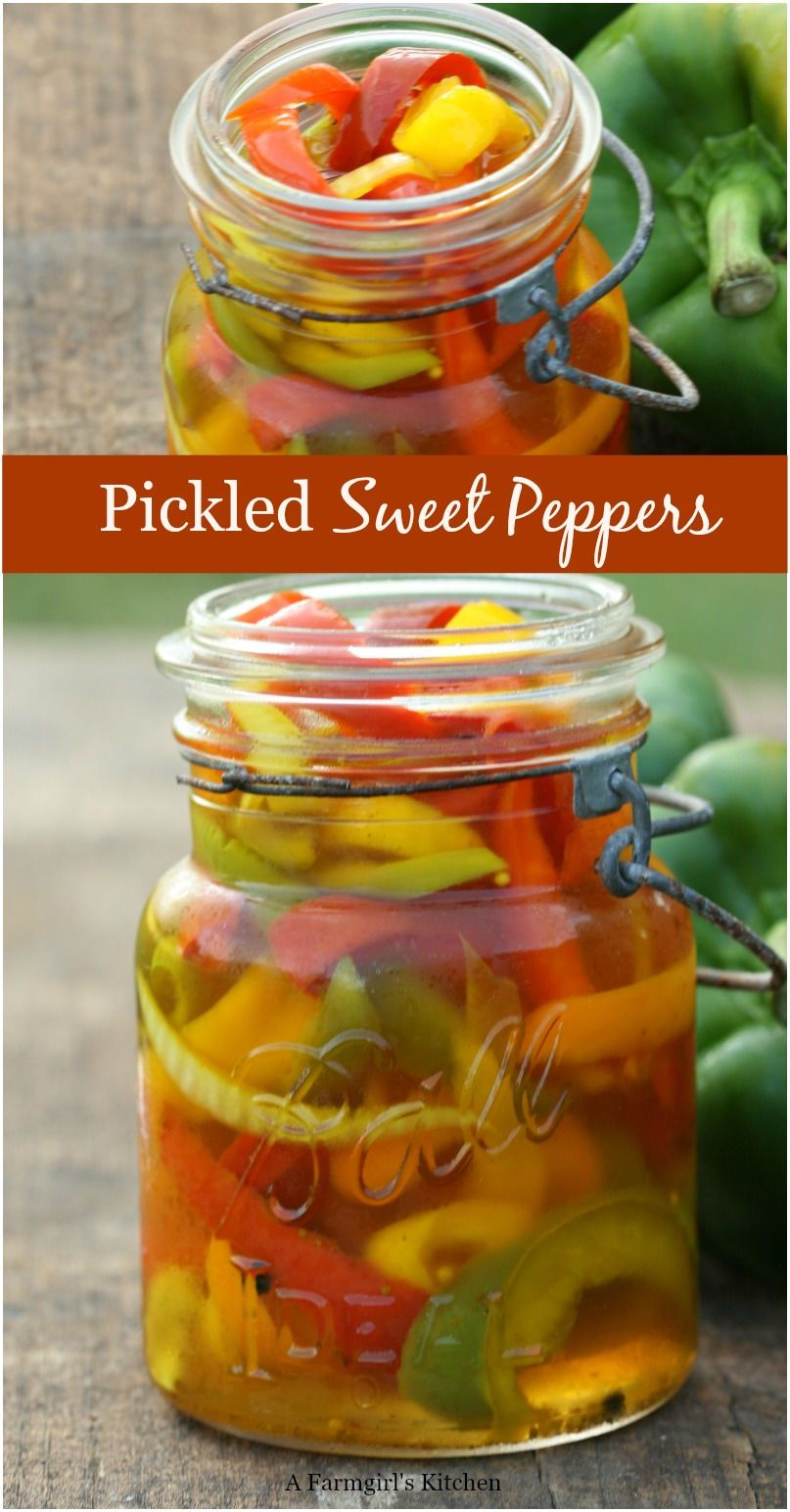 Pickled Sweet Peppers In 2020 Sweet Pepper Recipes Stuffed Sweet Peppers Stuffed Peppers