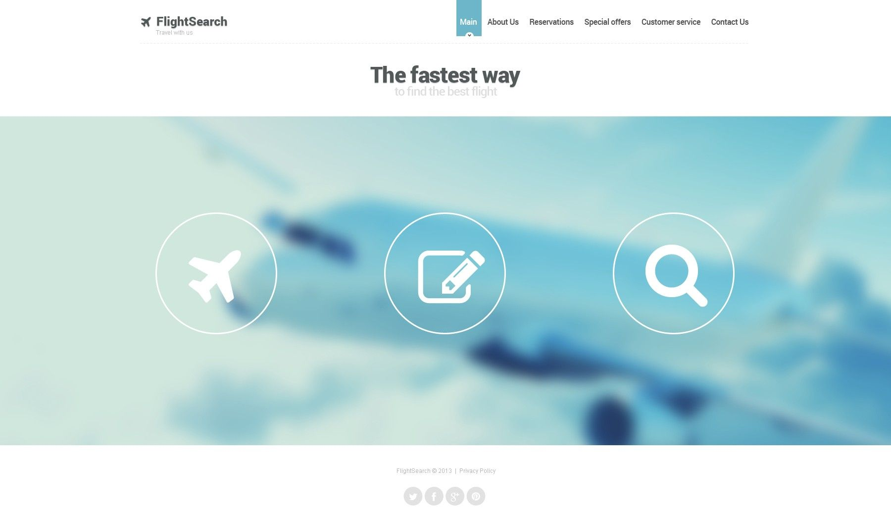 Check out this Private Airline Website Template