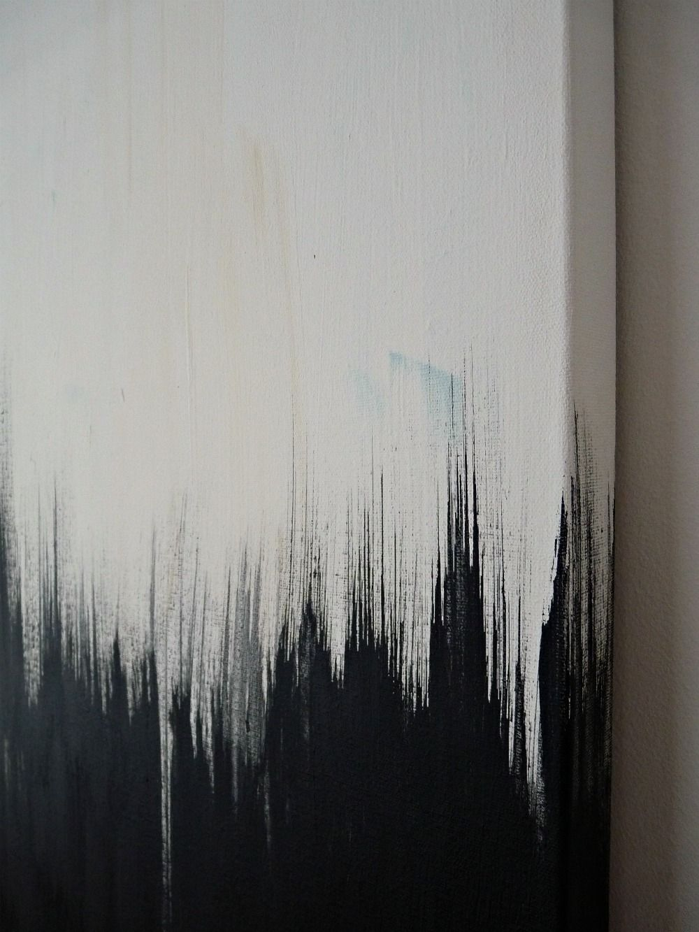 Simple But Striking Black White DIY Abstract Painting