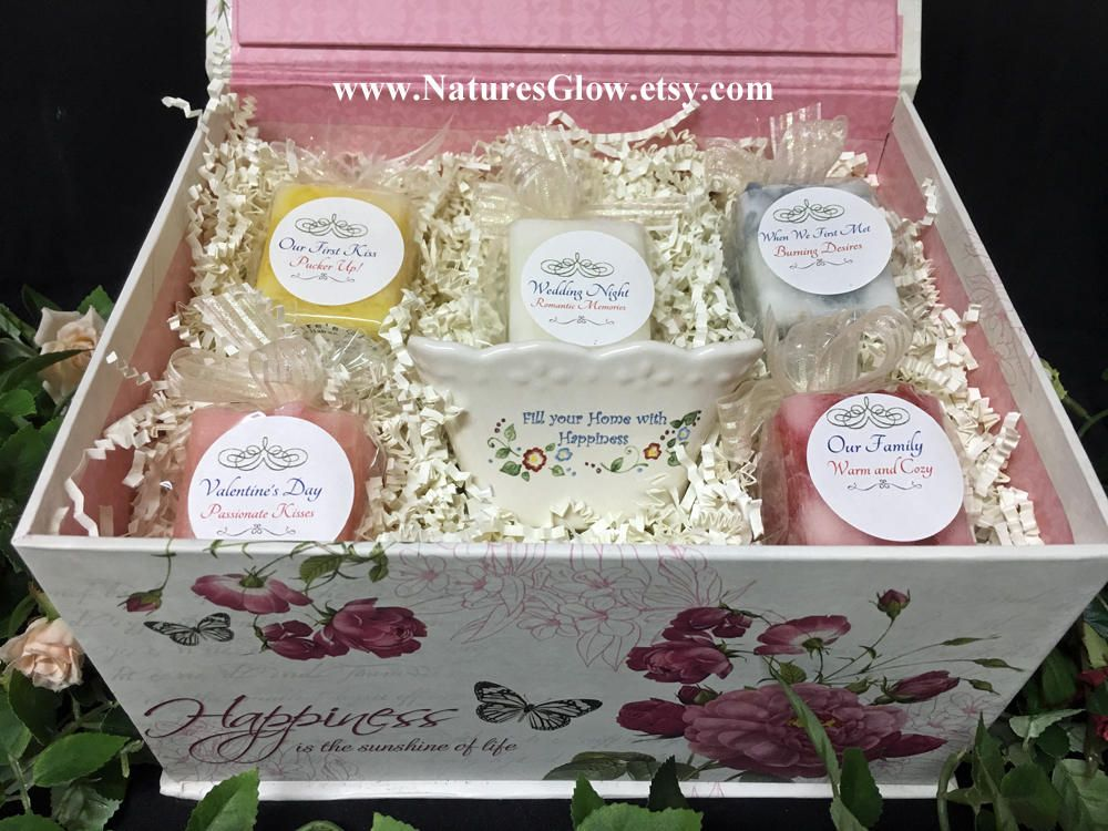 Anniversary Gift for Couple, Wedding Candle Gift Box with