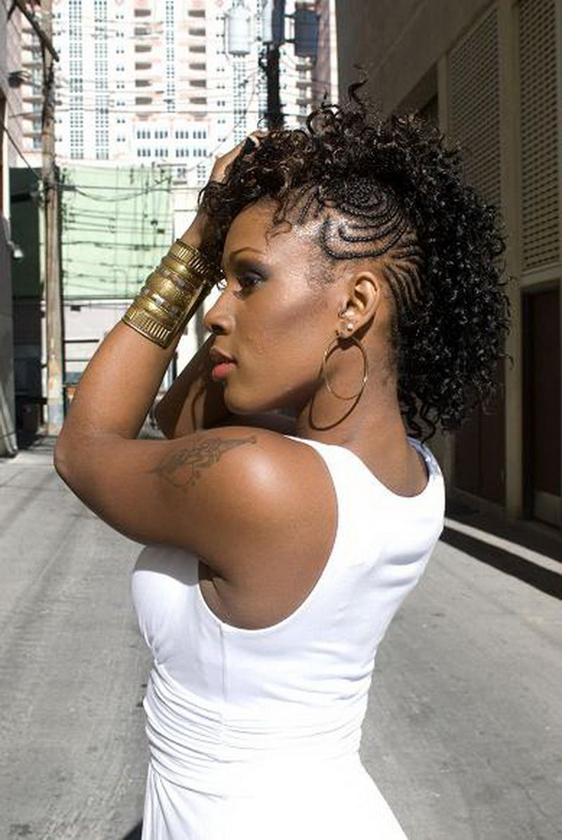 Mohawk for black ladies google search hairstyle pinterest