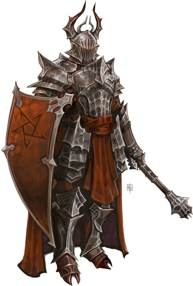 Pathfinder hierarch - could be a hellknight. Male fighter ...