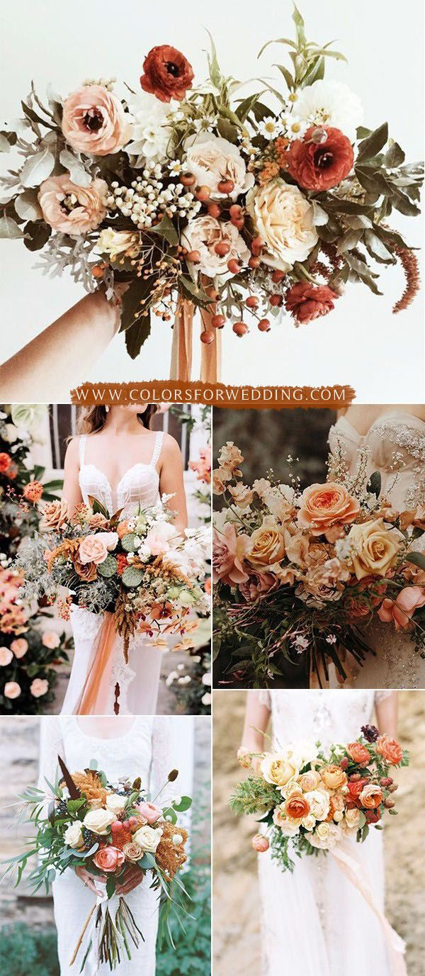 35+ Sunset Dusty Orange Wedding Color Ideas for Fall 2020