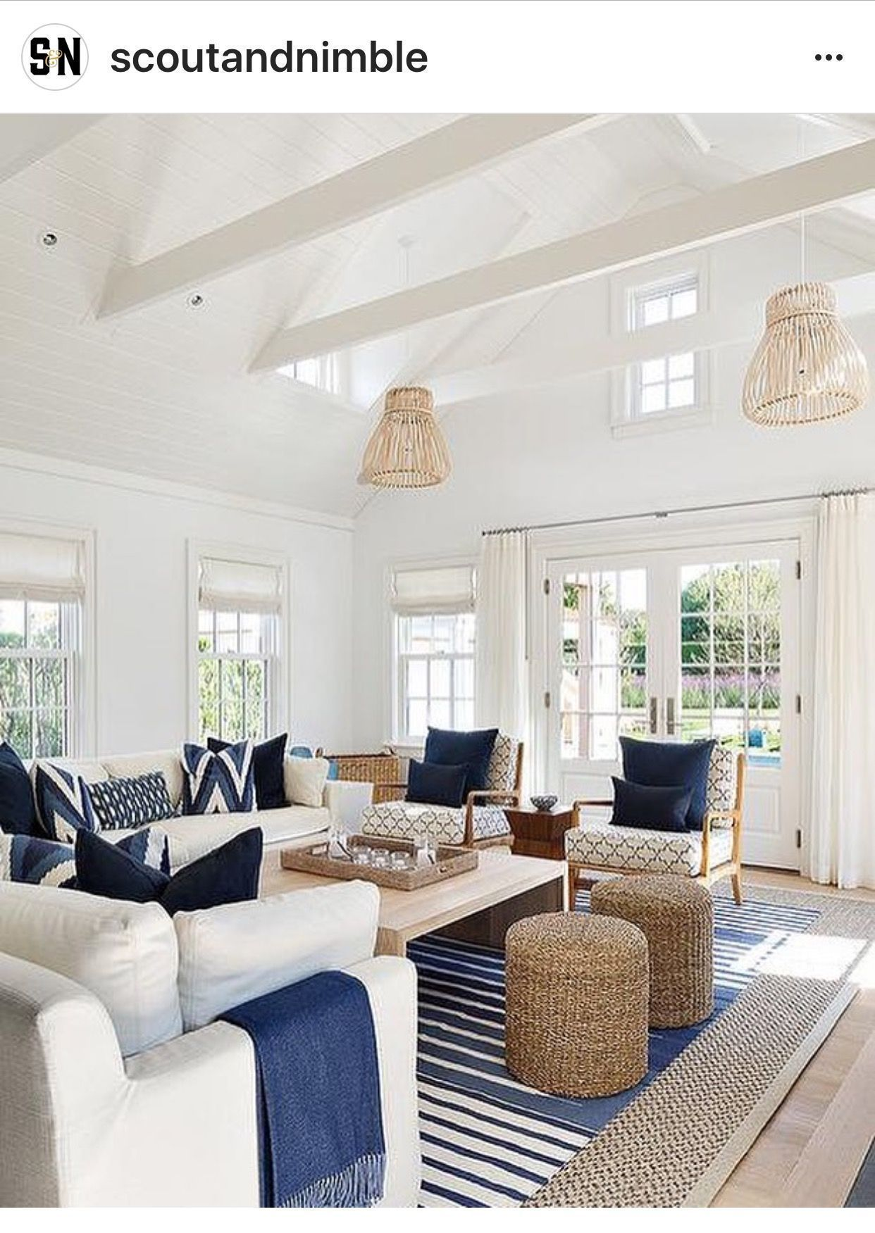 Light and bright coastal interior with a