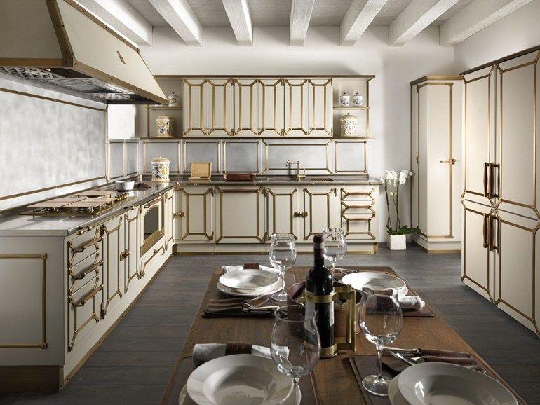 Kitchen with handles LIGHT BEIGE by Officine Gullo | Beautiful ...