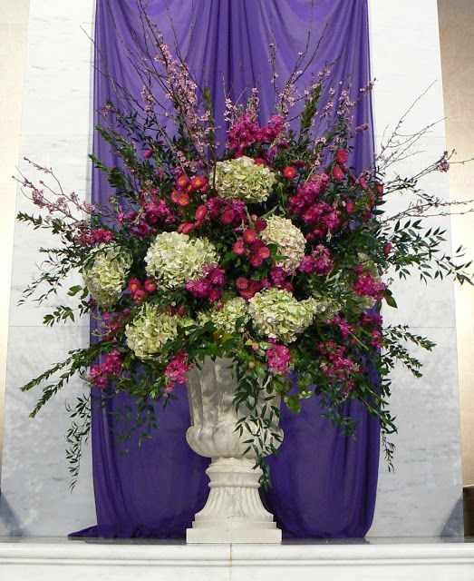 Purple Wedding Altar Flowers: Peachtree Road United Methodist Flower Guild: A Spring