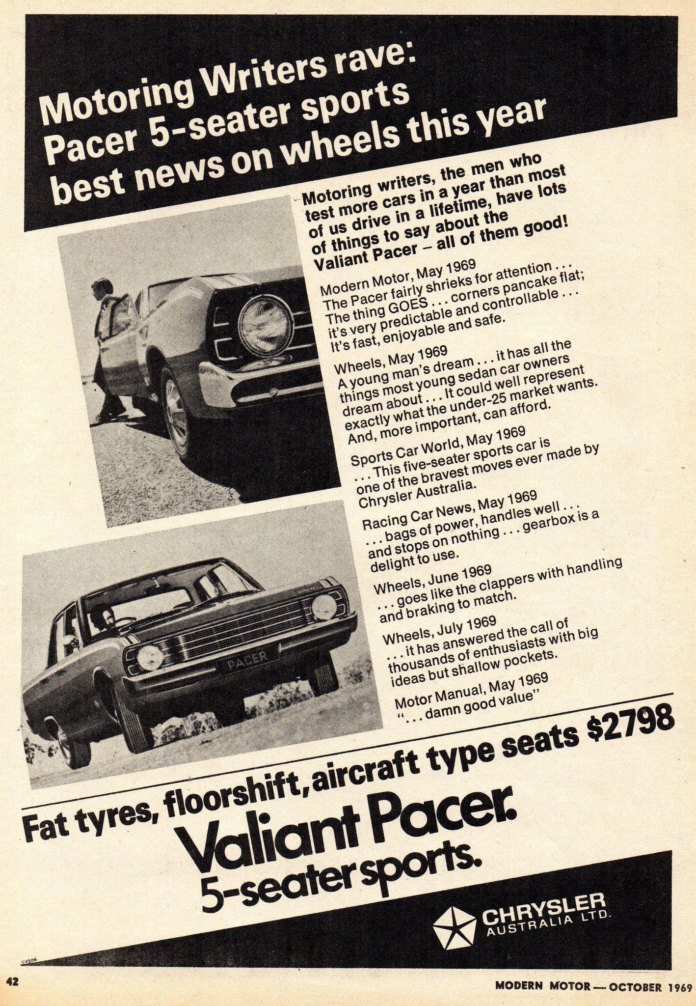 1969 VF Chrysler Valiant Pacer 5 Seater Sports Aussie Original ...