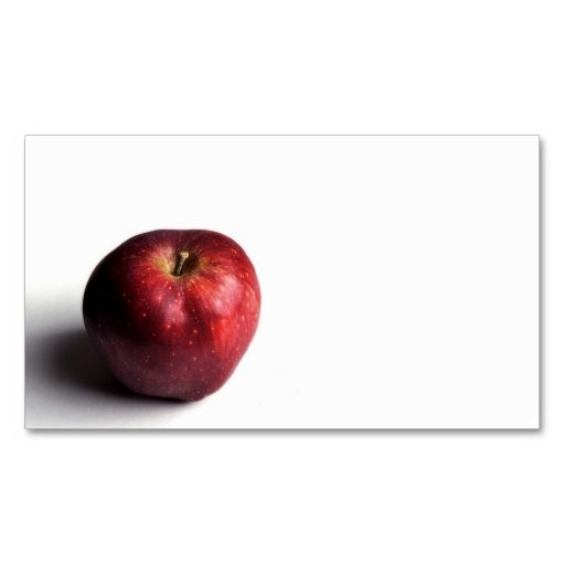 Small red apple business card red apple business cards and business small red apple business card make your own reheart Gallery