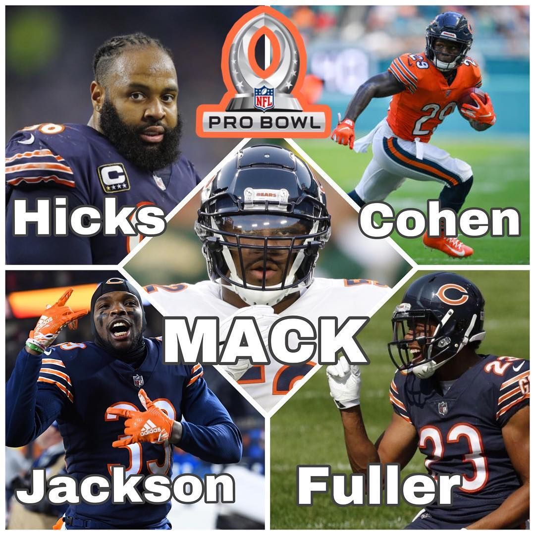 Da Bears On Instagram Your 2018 19 Pro Bowl Selections Khalil Mack K52mack Akiem Hi Chicago Bears Football Chicago Sports Teams Nfl Chicago Bears