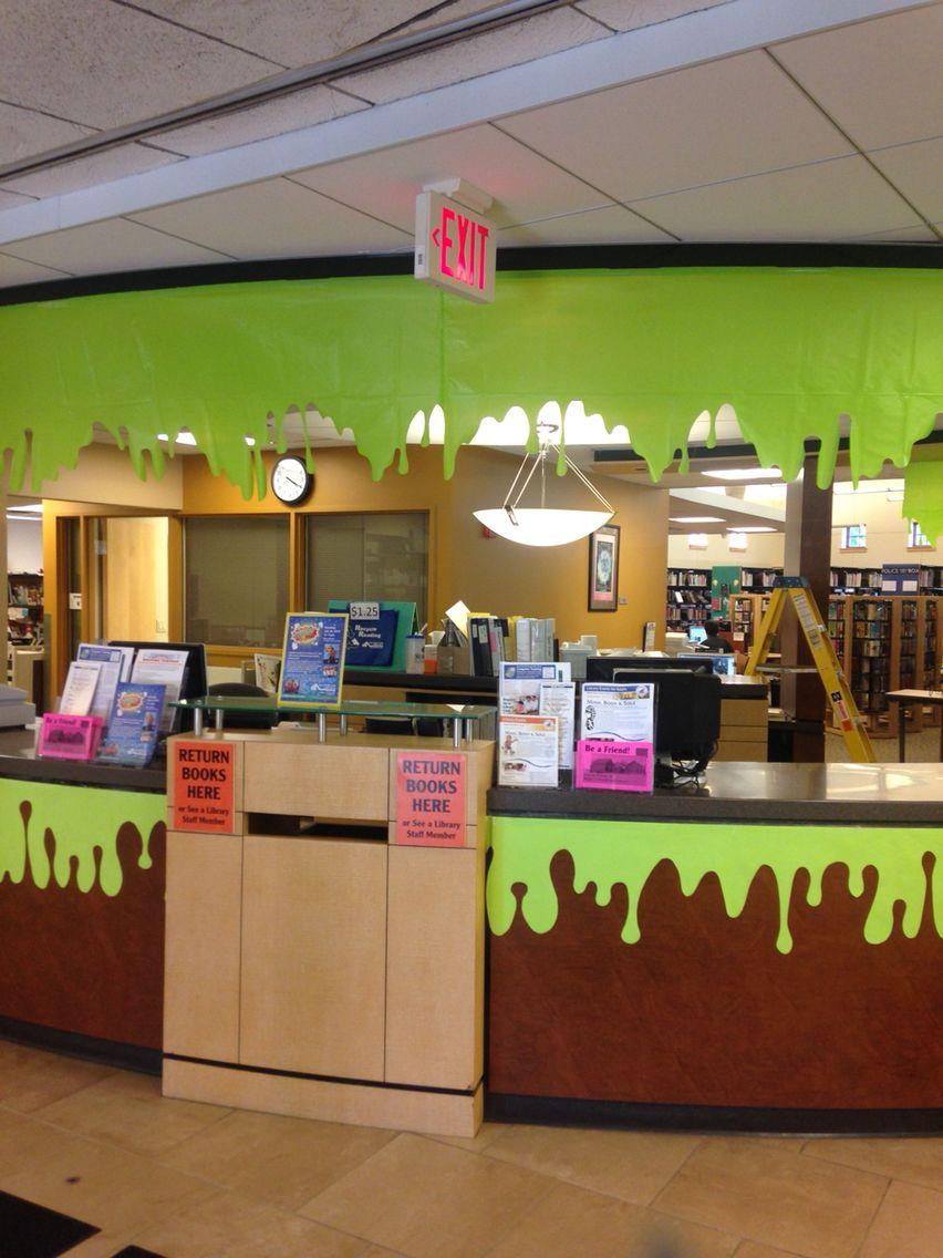 Slime zone front desk display