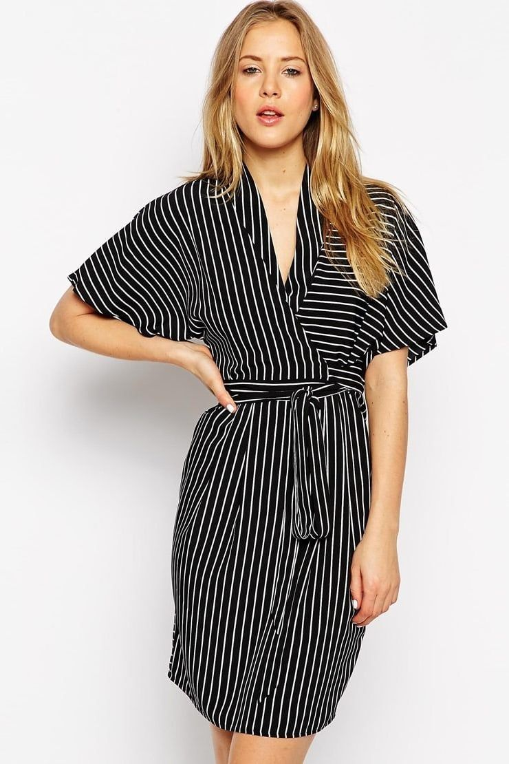 17 Wrap Dresses That Will Make You Love Wrap Dresses Wrap Around Dress Wrap Dress Kimono Style Dress