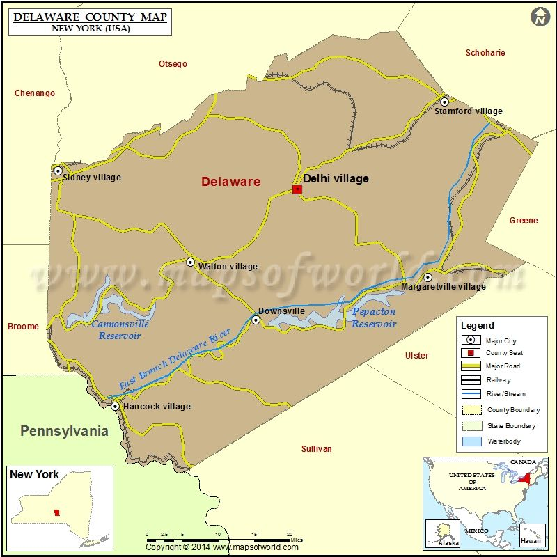 map of delaware county ny My Hometown Areas Delaware County New York Usa Showing The map of delaware county ny