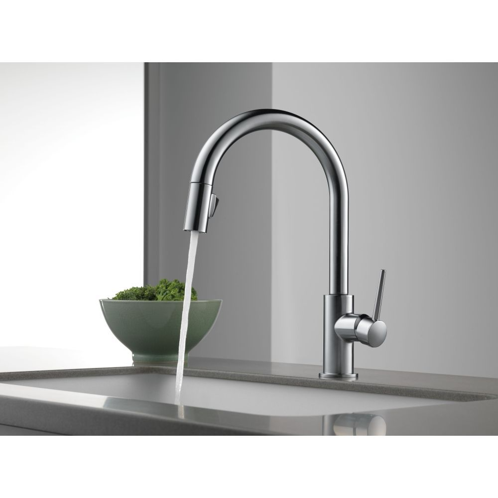 delta faucet 9159 ar dst trinsic arctic stainless pullout spray rh pinterest com