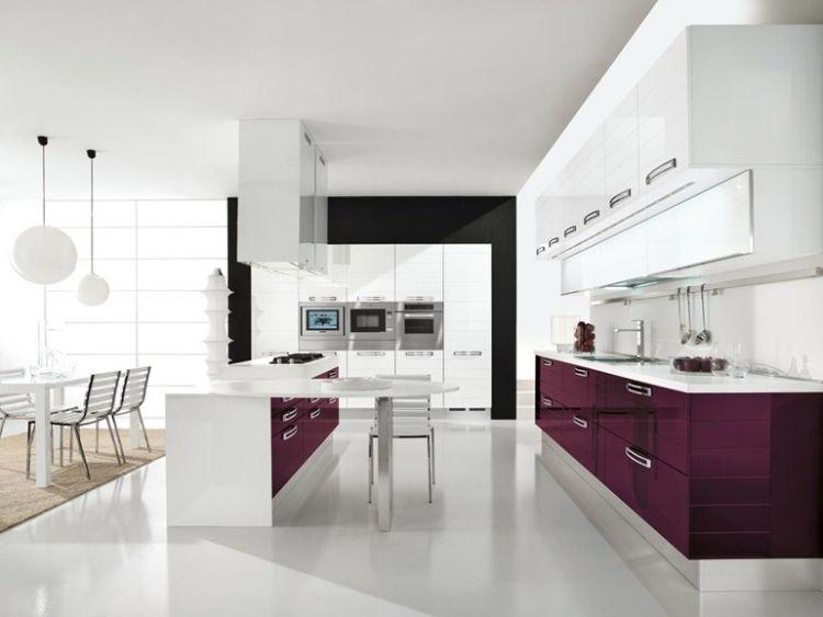 Weiße Küche in Hochglanz u2013 ein bezaubernder Blickfang Modern