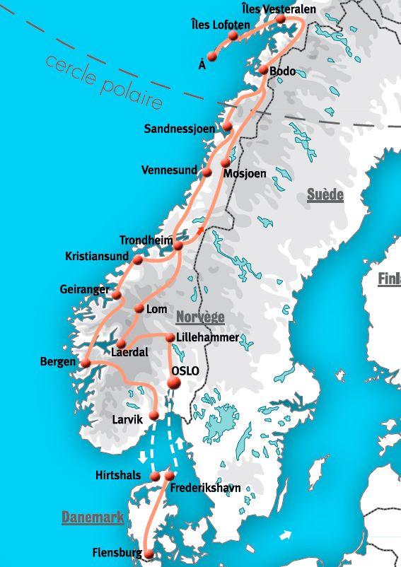 Circuits norv ge voyages circuits en camping car et Maison de la scandinavie et des pays nordiques