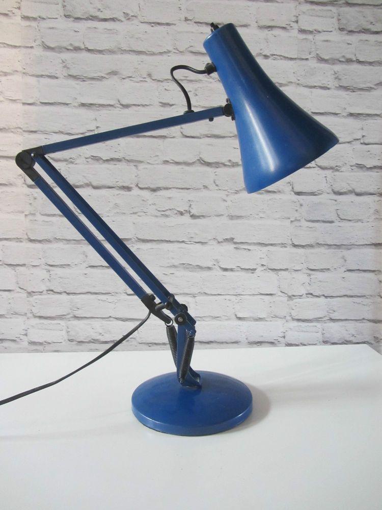 Retro Blue Anglepoise Lamp Herbert Terry Model 90 Desk Office Light