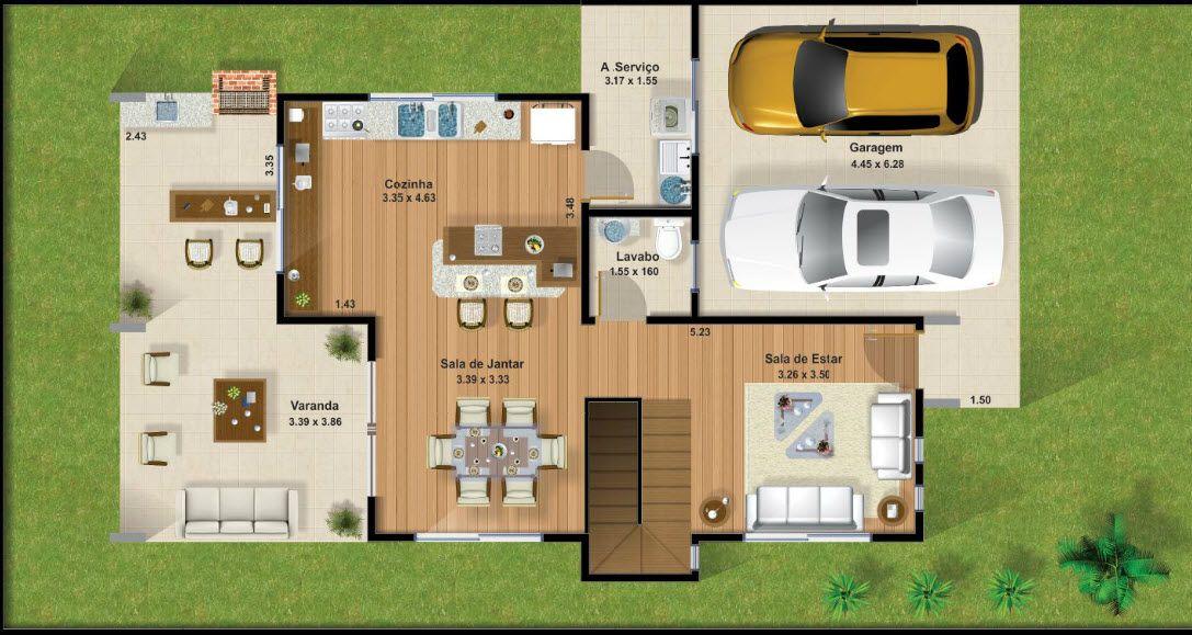 Casas De Dos Pisos Y Tres Dormitorios Casas De Dos Pisos Planos De Casas Modernas Casa De Tres Pisos