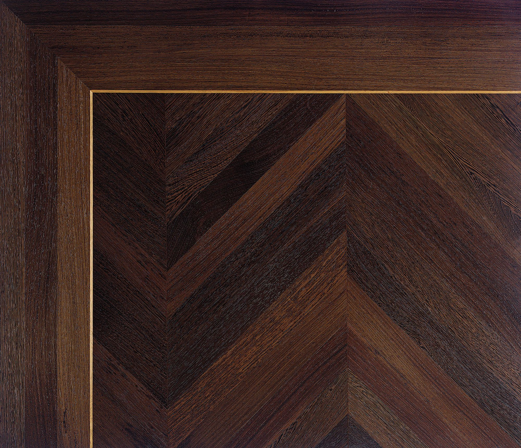 Rift And Quartersawn Wenge Have Been Crafted In A Chevron Patterned