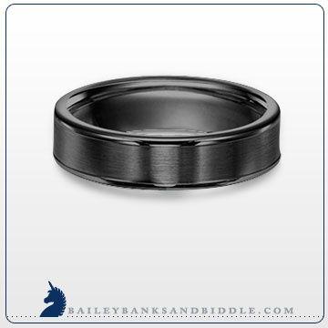 6mm #band in black tungsten