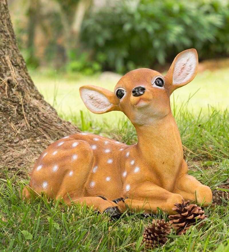 Baby Deer Garden Statue In Garden Statues Deer Garden Garden Statues Garden Figurines