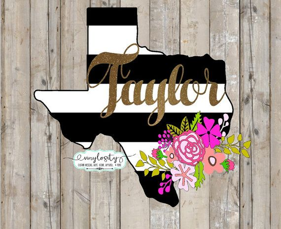 Black White And Gold Texas Decal Texas Yeti Decal By VinylosityCo - How to make car decals with cricut explore