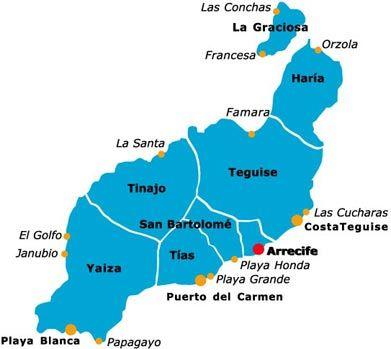 Isla De Lanzarote Mapa.Mapa Playas Isla Lanzarote En 2019 Lanzarote Isla