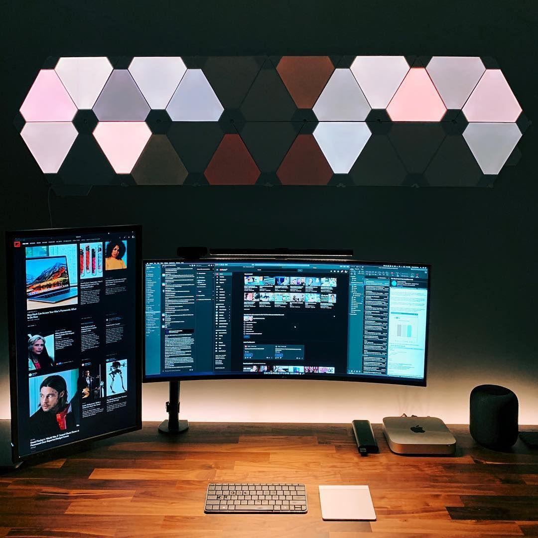 nanoleaf light panels giving that future sci fi vibe experience rh pinterest com