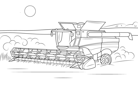 combine coloring pages John Deere Combine coloring page from Special transport category  combine coloring pages