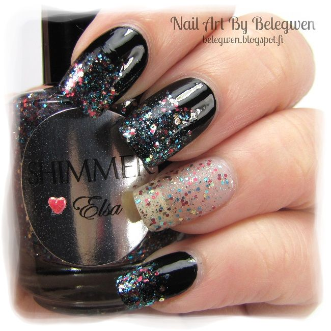 Nail Art by Belegwen: Shimmer Polish: Elsa