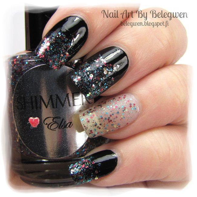 Nail Art by Belegwen: Shimmer Polish: Elsa