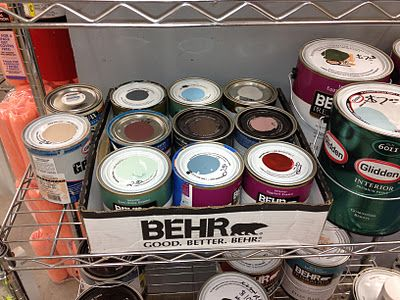 Oops Paint At Home Depot And Lowes Behind The Paint Counter There Are Always Shelves Of Oops Paint 2 Storing Paint Furniture Painting Tips Easy Home Decor