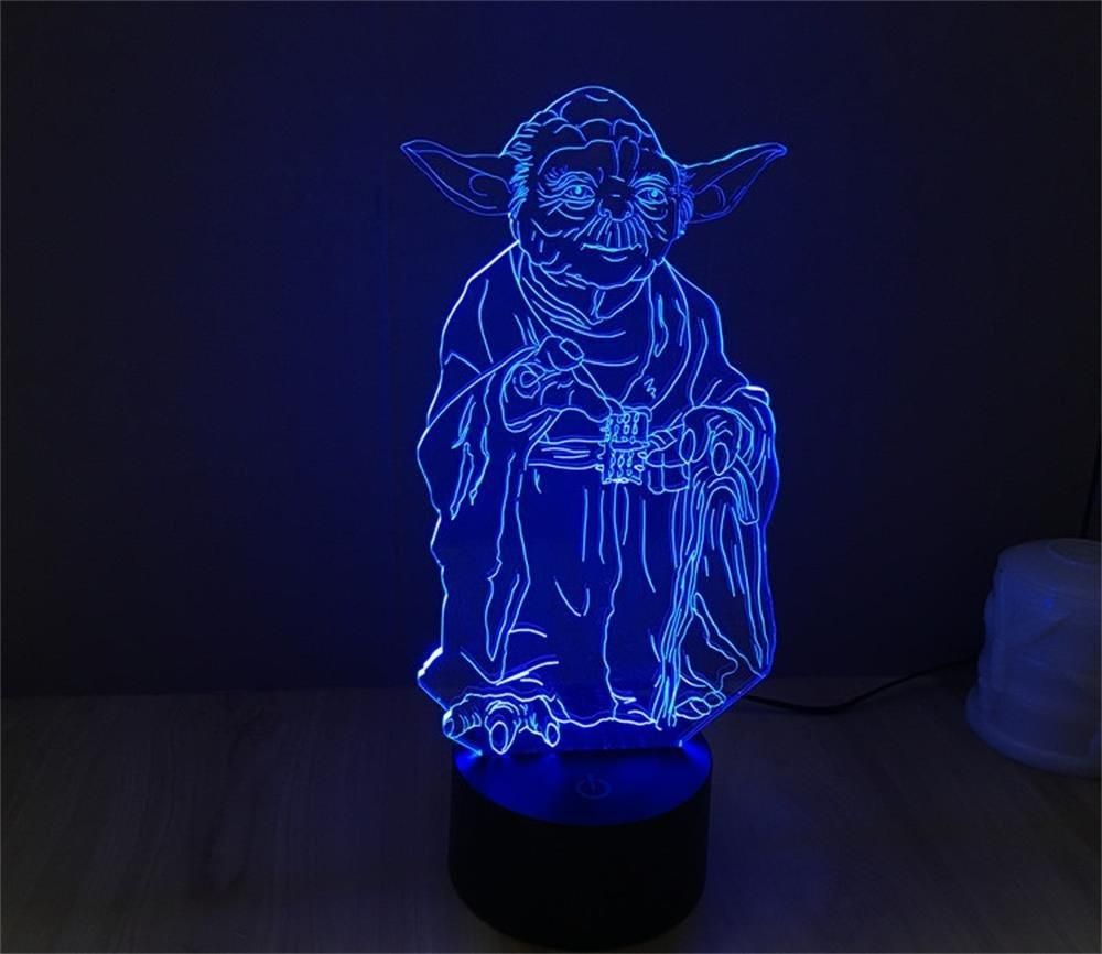 Star Wars 3d Led Night Light Lamp 7 Colors New Light Options 3d Led Light 3d Led Night Light 3d Night Light