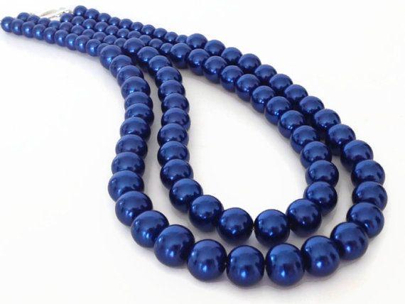 Blaue perlenkette