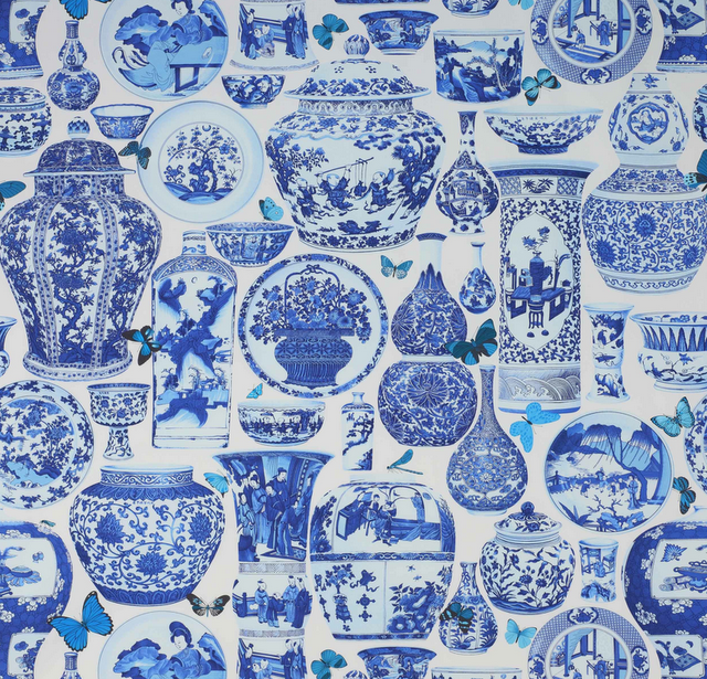 Blue White Ginger Jar Fabric Don T Know Whose Anyone