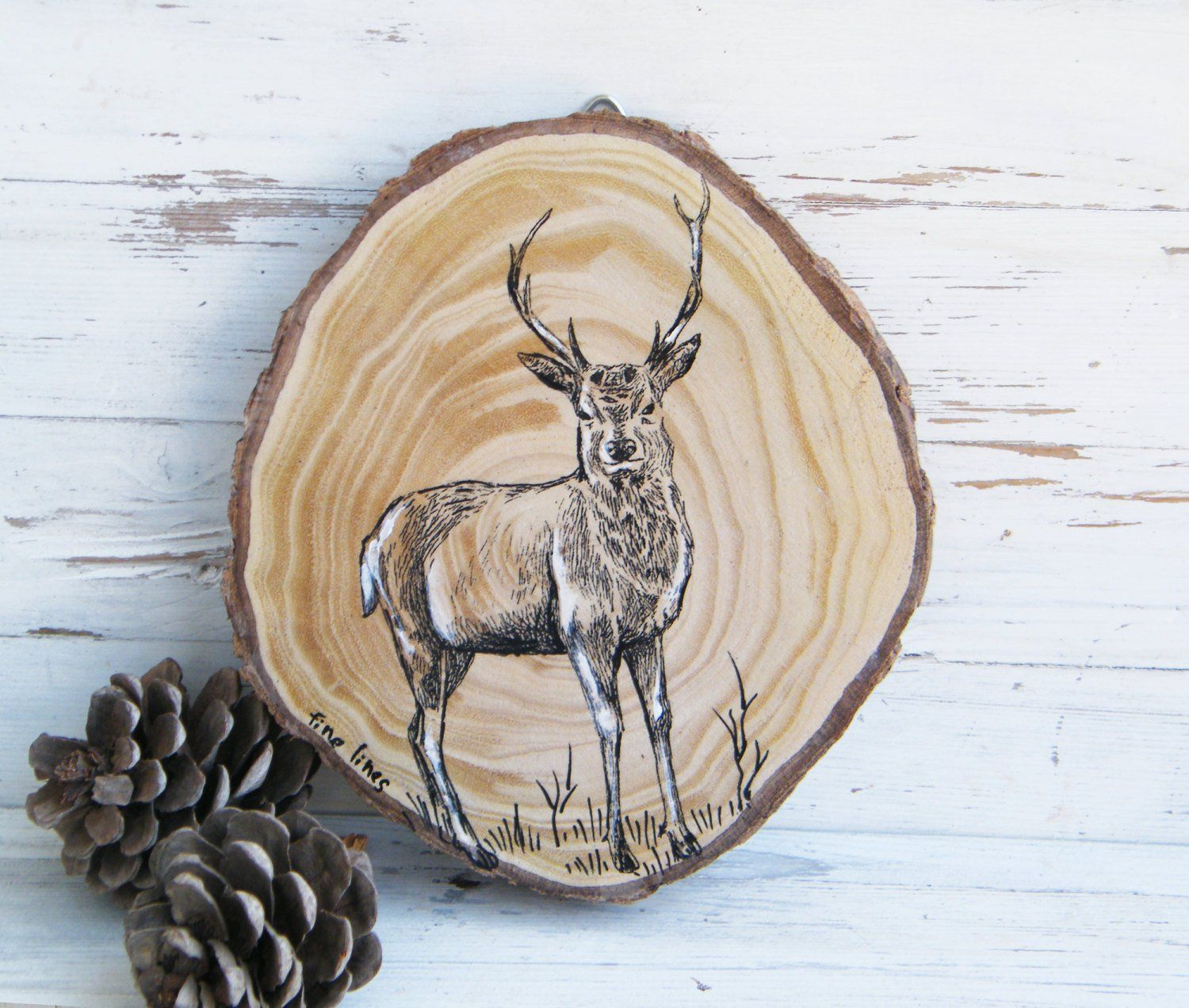 Deer deer print woodland animals deer wood slice woodland