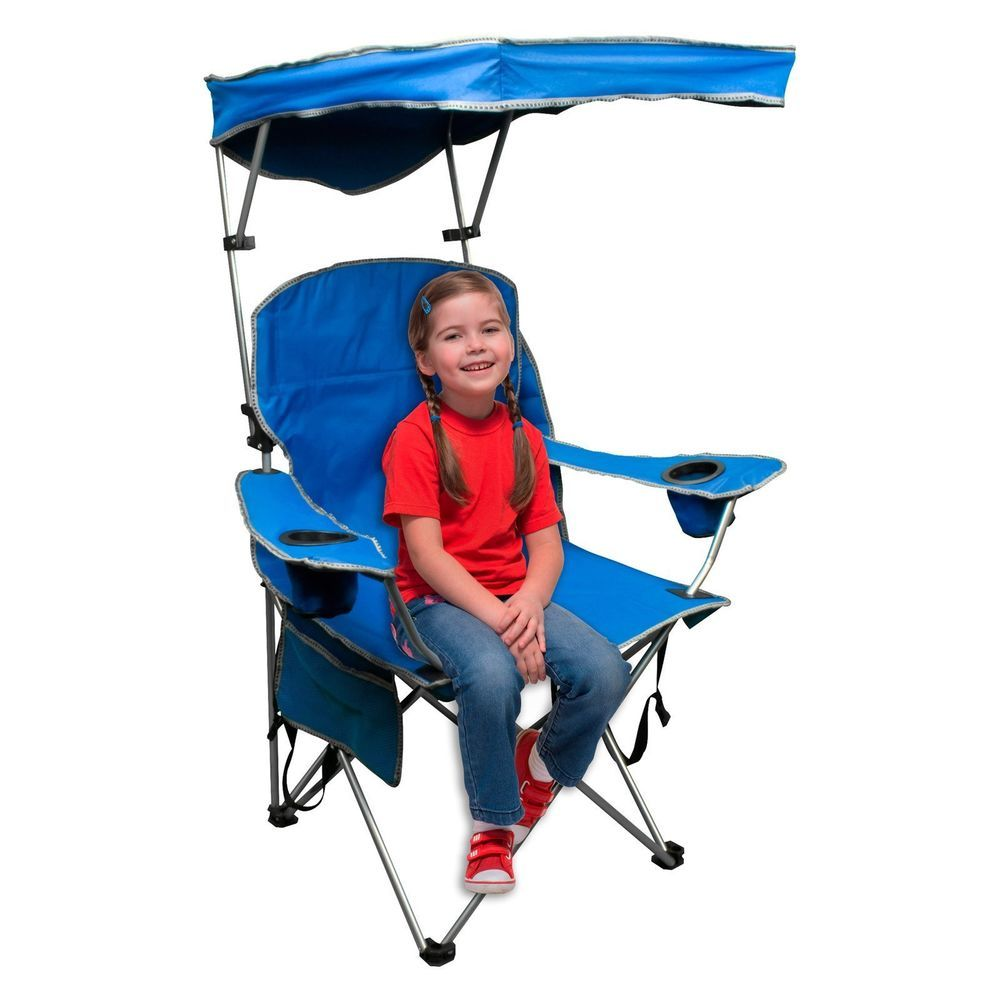 Folding Camping Chair Adjustable Canopy Sun Shade Portable